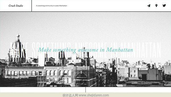 使用黑白照片的网页设计欣赏10
