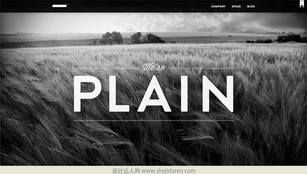 使用黑白照片的网页设计欣赏04
