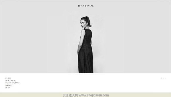 使用黑白照片的网页设计欣赏01