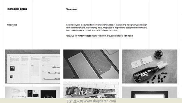 使用黑白照片的网页设计欣赏08
