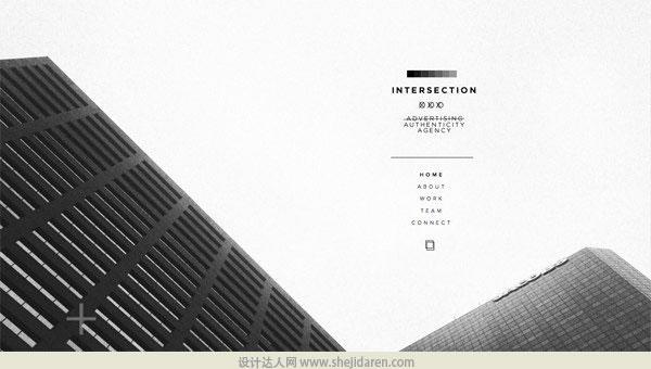 使用黑白照片的网页设计欣赏12