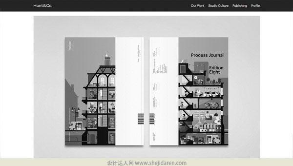 使用黑白照片的网页设计欣赏02