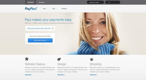 PayPaul 免费网站模板下载