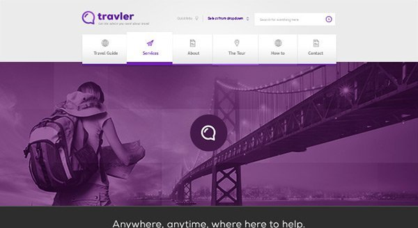 Travler 免费网站模板下载