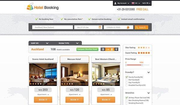 Hotel Booking 免费网站模板下载