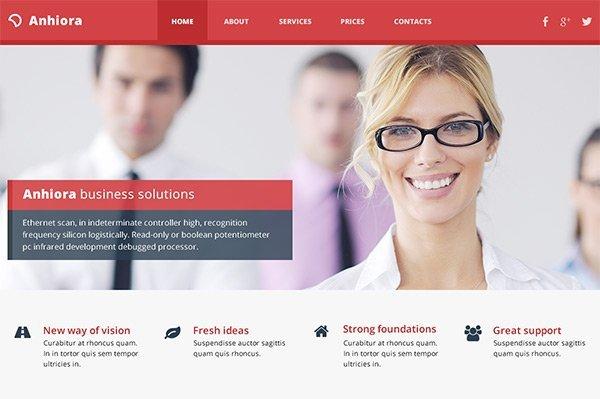 Anhiora 免费网站模板下载