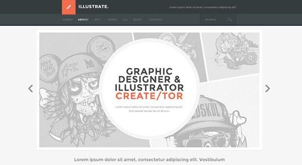 Illustrate 免费网站模板下载