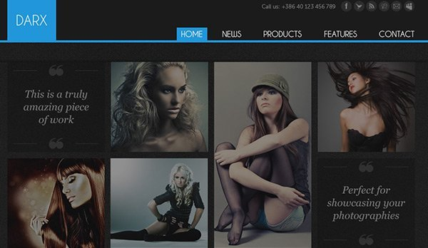 Darx 免费网站模板下载