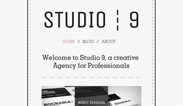 Studio 9 免费网站模板下载