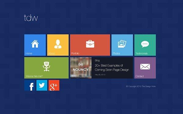 Metro UI 免费网站模板下载