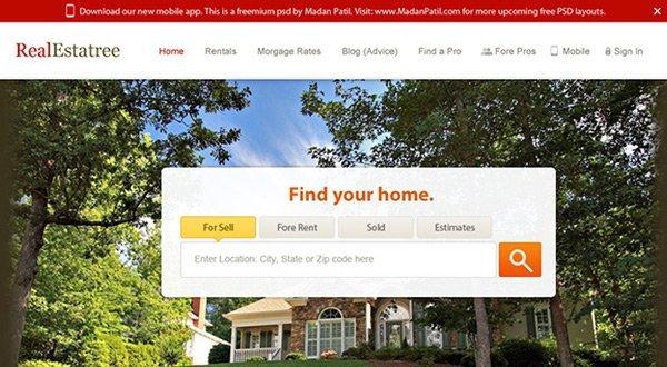 Real Estate 免费网站模板下载