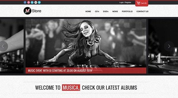 Musica 免费网站模板下载