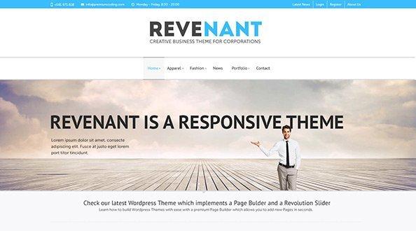 Revenant 免费网站模板下载