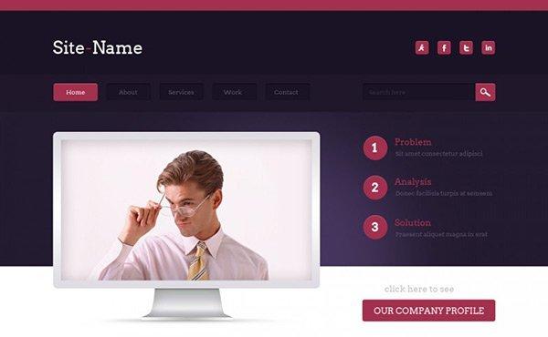template_09 免费网站模板下载