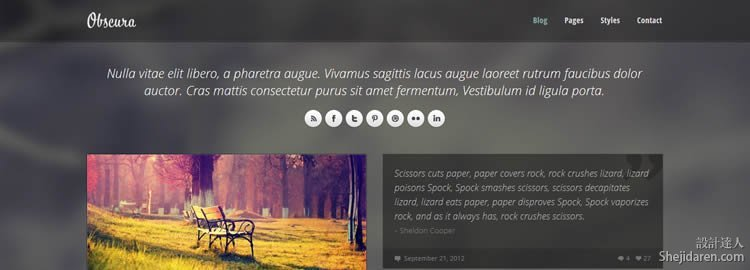 Obscura HTML Template