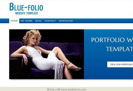 免费网站模板下载bluefolio-portfolio-template-2