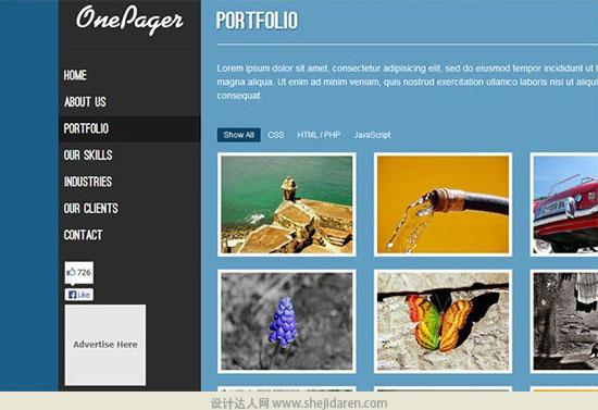 免费网站模板下载one-page-portfolio-template-7