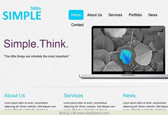 免费网站模板下载portfolio-template-9