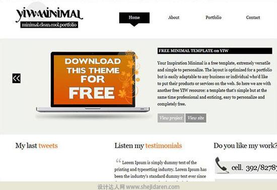 免费网站模板下载minimal-portfolio-5