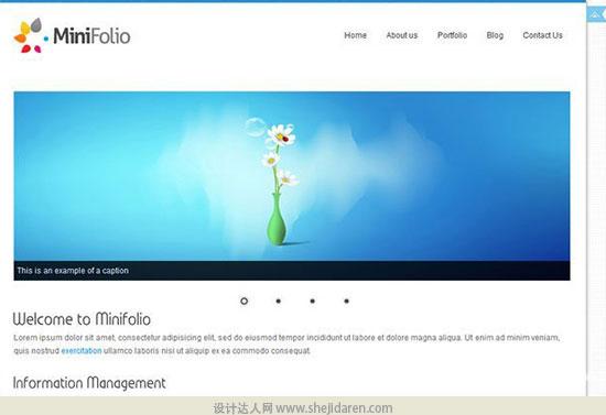 免费网站模板下载minifolio-4