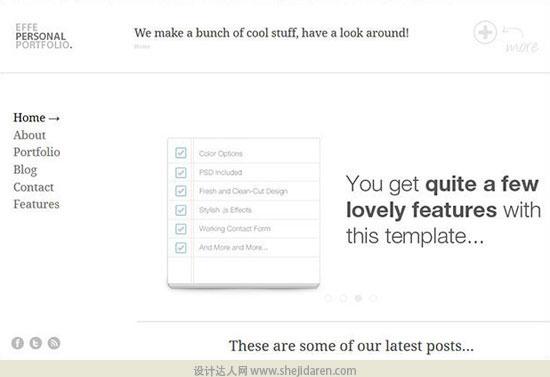 免费网站模板下载portfolio-template-10