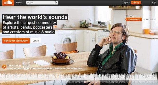 着陆页 - SoundCloud