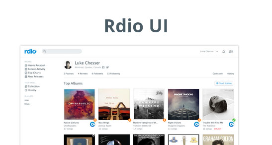 2013流行的网站模板UI PSD下载
