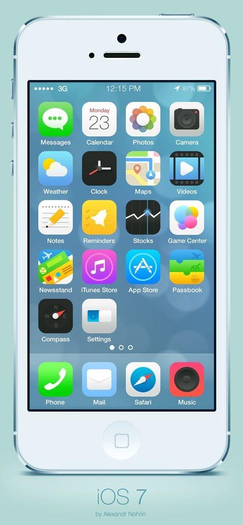 UI设计 iOS 7 icons