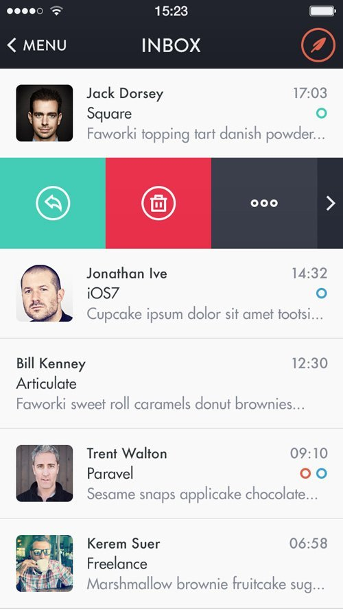 UI设计 Mochila Mail iOS7