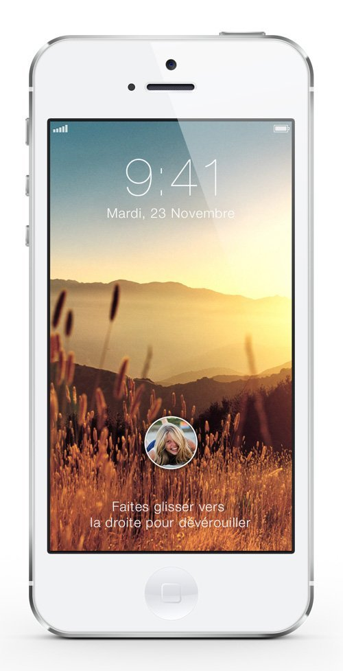 UI设计 IOS 7 Lockscreen Concept