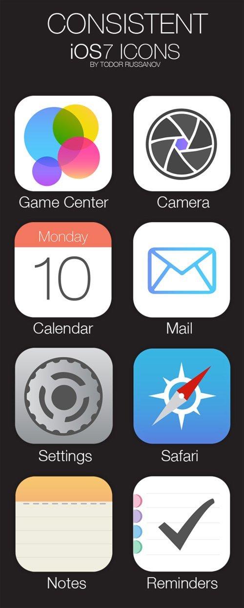 UI设计 Consistent iOS7 Icons