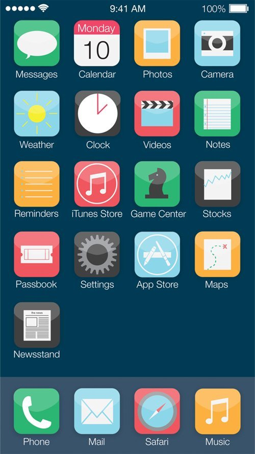 UI设计 iOS7: Mobile OS Redesign Concept
