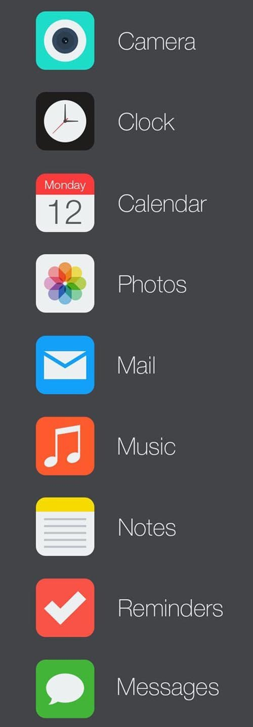 UI设计 iOS 7 Icon Redesign