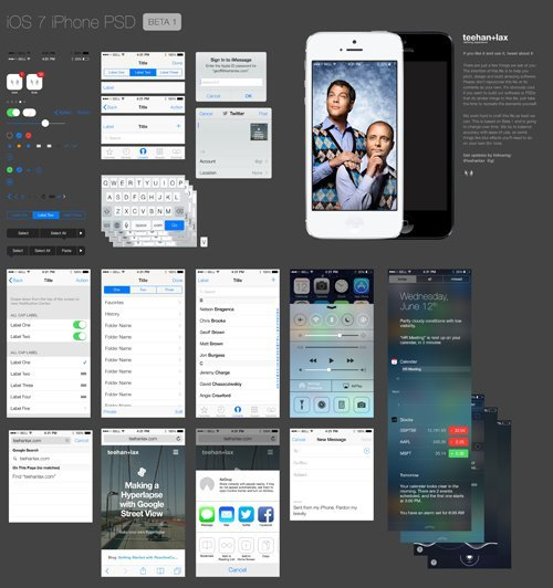UI设计 iOS 7 PSD Download