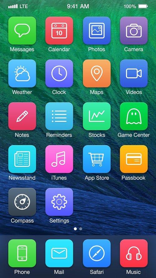 UI设计 iOS7 Redesign