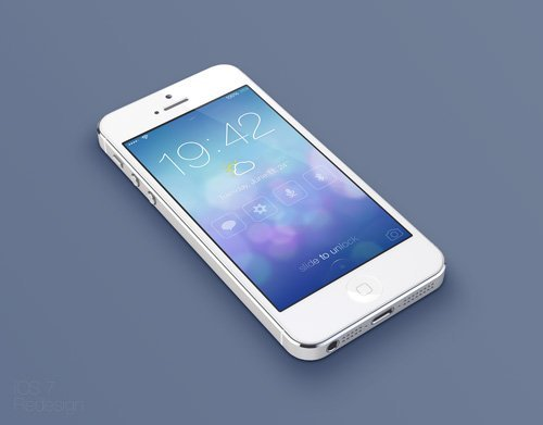 UI设计 iOS7 Lock screen - Redesign Concept