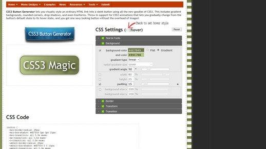 漂亮的CSS按钮样式集以及在线生成工具图片