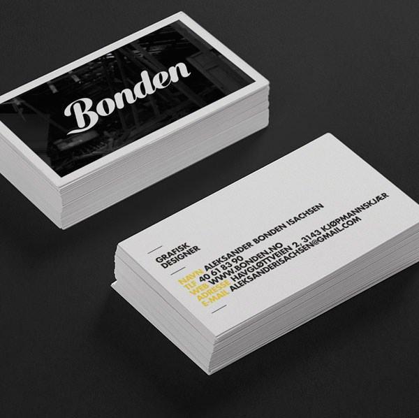 名片设计作品 - bonden