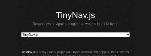 15个响应式设计的导航菜单jQuery插件