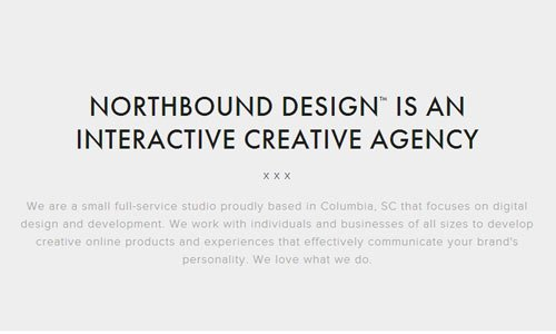 Northbound Design - 简约网站
