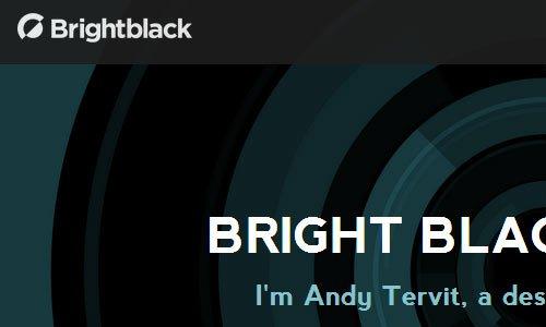 Bright Black Creative - 简约网站设计欣赏