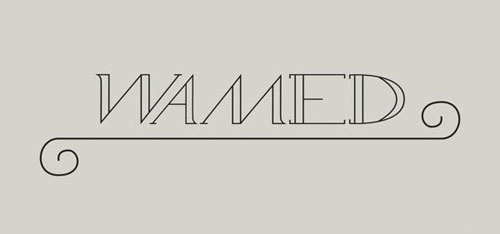 free 2013 font Wamed typeface