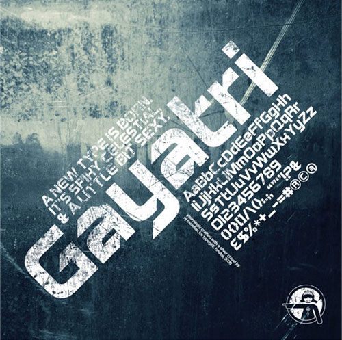 Gayatri Sans Serif free 2013 font typeface
