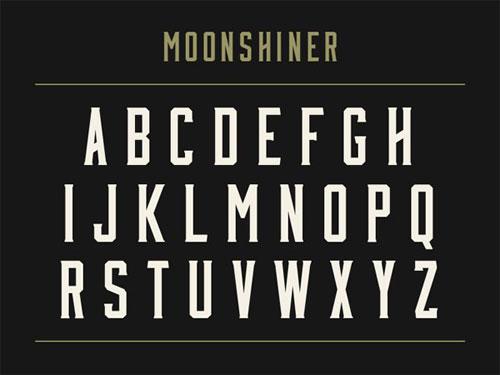 free 2013 font typeface Moonshiner
