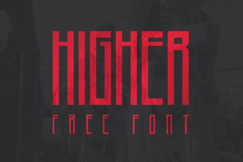 free 2013 Higher font typeface