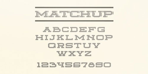 free 2013 font typeface Matchup