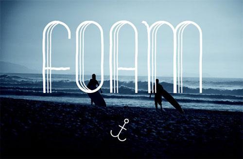 free salt foam 2013 font typeface