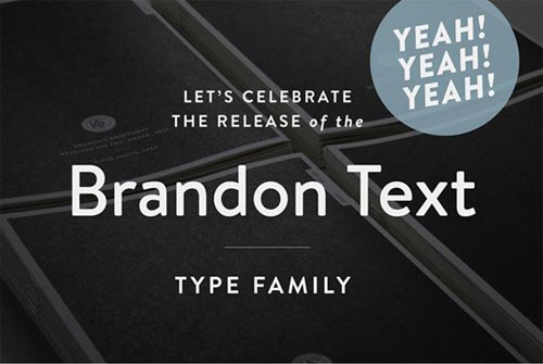 Brandon Text free 2013 font typeface