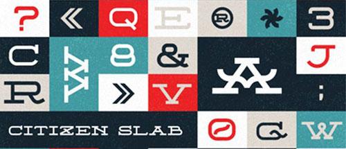 free 2013 font typeface Citizen Slab