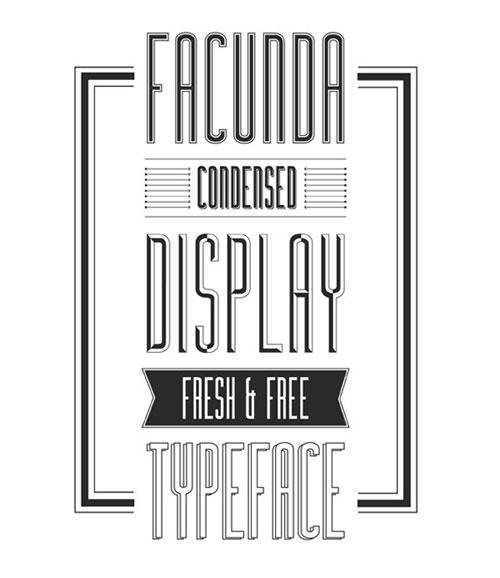 free Facunda 2013 font typeface